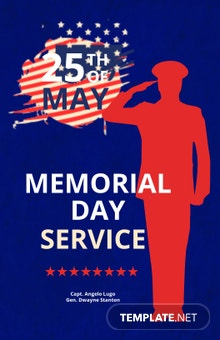 Memorial Day Service Poster Template