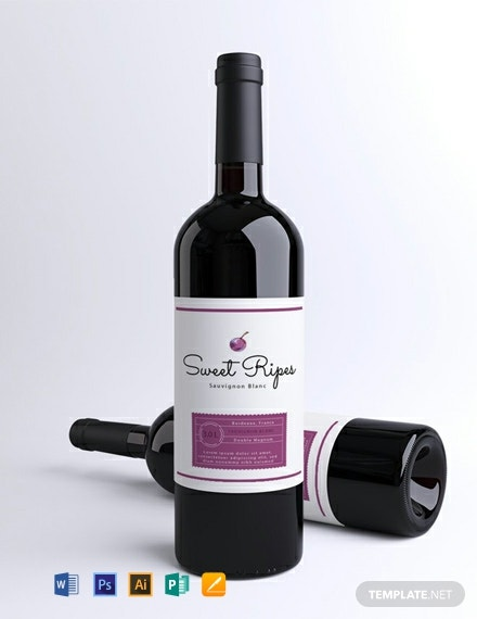Free Printable Wine Label Template