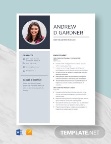 Debt Collection Manager Resume Template