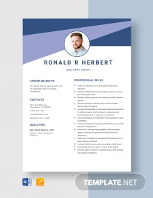 Delivery Agent Resume Template