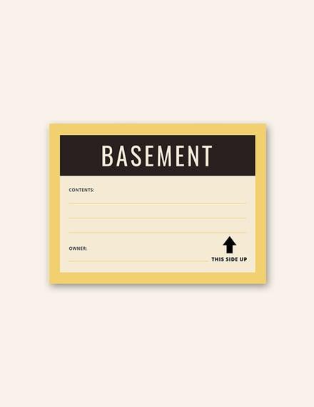 Free Storage Label Template