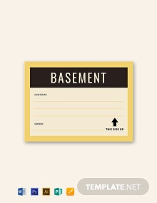 Free Storage Label Template