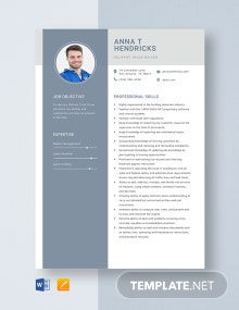 Delivery Truck Driver Resume Template