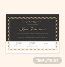 Free graduation gift certificate template in adobe illustrator free graduation appreciation certificate template yadclub Image collections