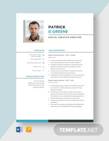 Digital Creative Director Resume Template