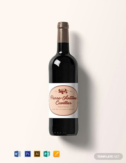 Free Vintage Wine Label Template