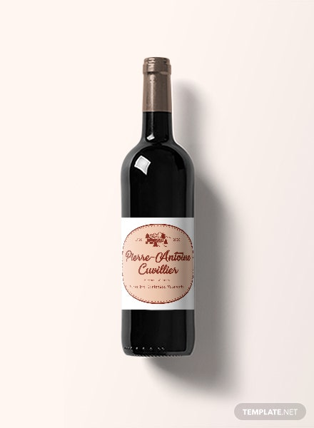 Free Vintage Wine Label Template