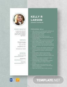 Guidance Counselor Resume Template