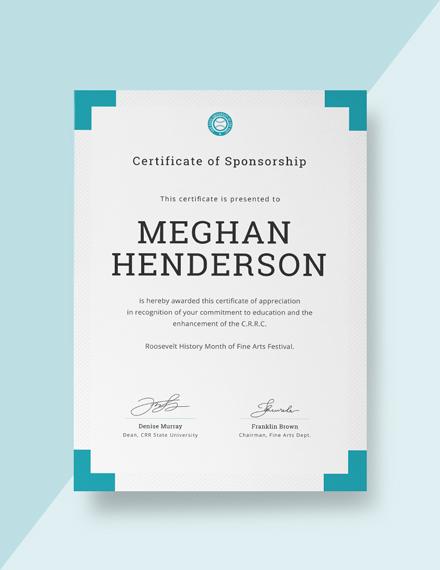 free church certificate of appreciation template  download