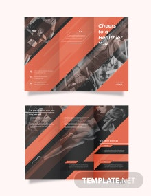 Personal Trainer Tri-Fold Brochure Template