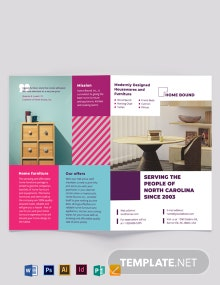 Furniture Bi-Fold Brochure Template