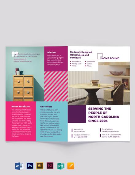 Furniture Bi-Fold Brochure Template