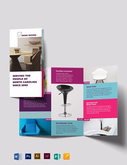 Furniture Tri-Fold Brochure Template