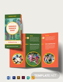 Summer Camp Tri-Fold Brochure Template