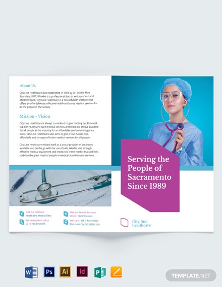 Healthcare Bi-Fold Brochure Template