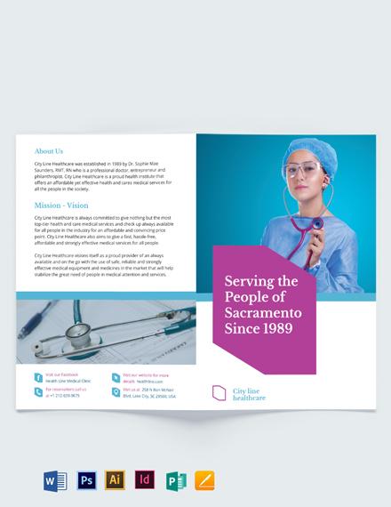 Healthcare Bi-Fold Brochure Template