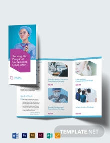 Healthcare Tri-Fold Brochure Template