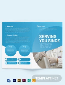 Health Fair Bi-Fold Brochure Template