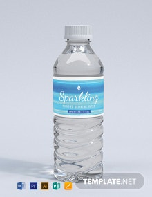 Free Water Bottle Paint Label Template