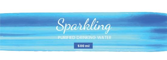 Free Water Bottle Paint Label Template.jpe