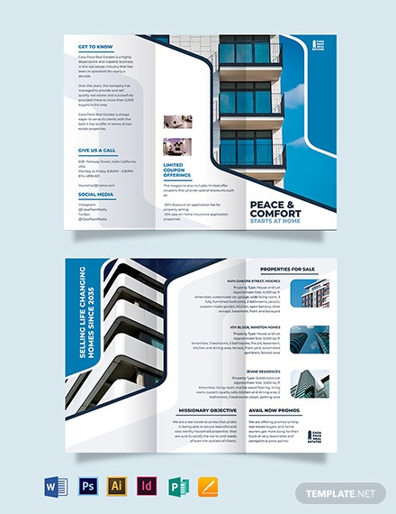 Real Estate Listing Tri-fold Brochure Template