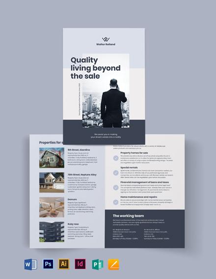 Realestate Development Investor Bi-fold Brochure Template
