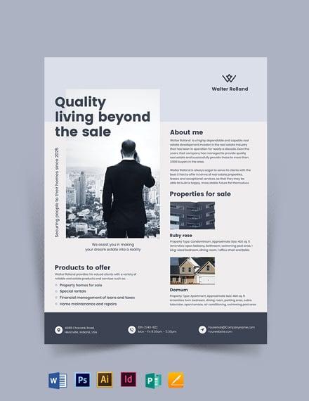 Realestate Development Investor Tri-fold Brochure Template