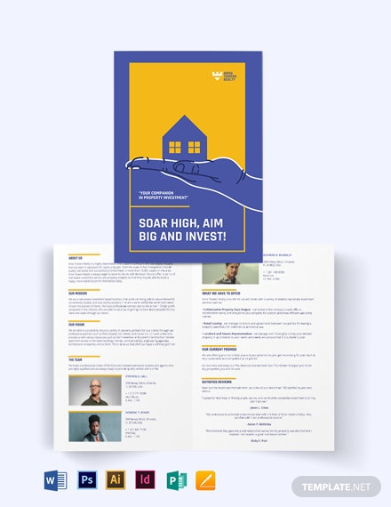 Residential Real Estate Investment Bi-fold Brochure Template