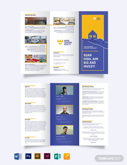 Residential Realestate Investment Tri-fold Brochure Template