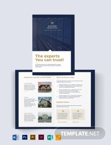 Commercial Real Estate Company Bi-Fold Brochure Template