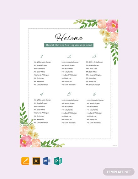 Free tally chart template in microsoft word apple apple for Bridal shower seating chart template