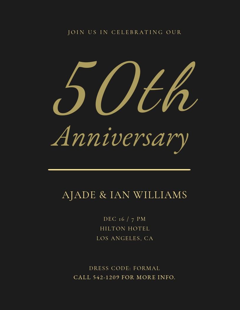 Fall Wedding Anniversary Gala Flyer Template