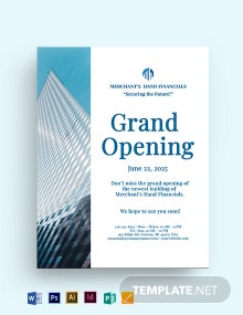 Company Grand Opening Flyer Template