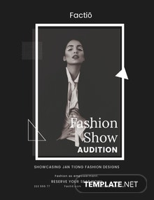 Fashion Show Audition Flyer Template