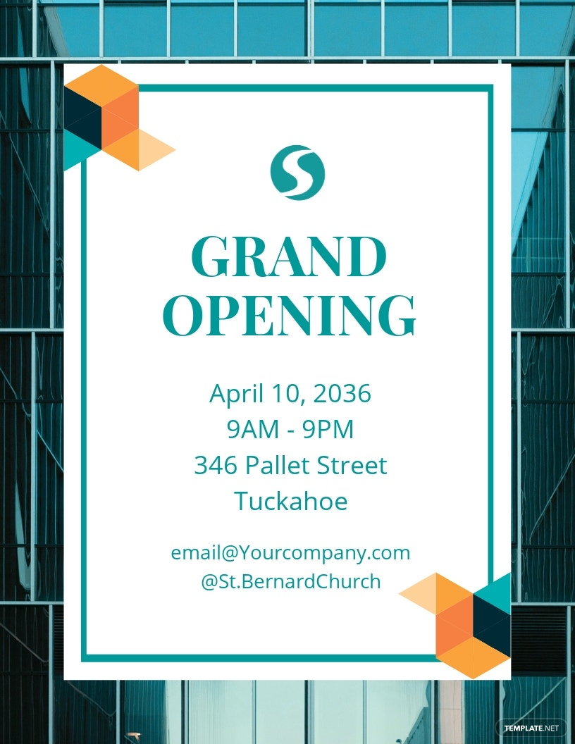 IT Company Grand Opening Flyer Template