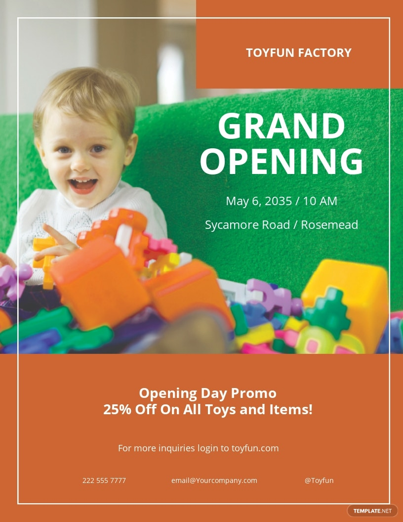 Kids Store Grand Opening Flyer Template.jpe