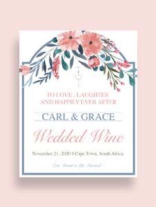 Free Beach Wedding Wine Label Template