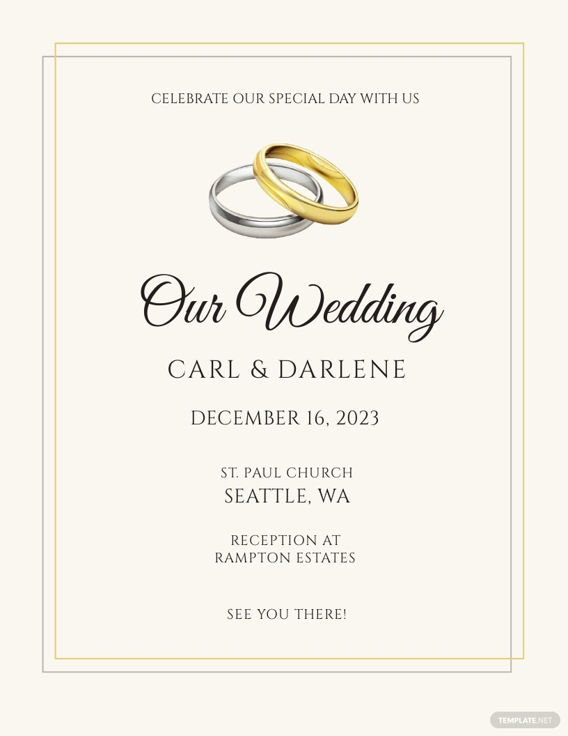 Wedding Gold and Silver Flyer Template.jpe