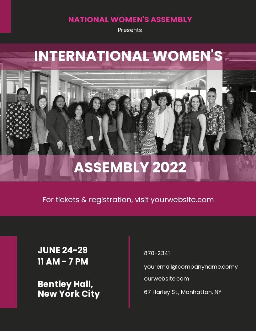 Women Conference Flyer Template.jpe