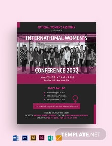 Women Conference Flyer Template