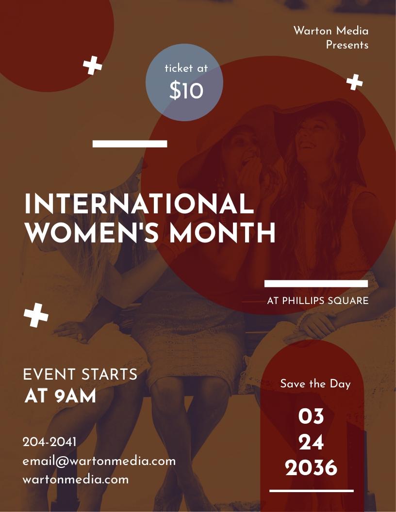 Women Event Flyer Template