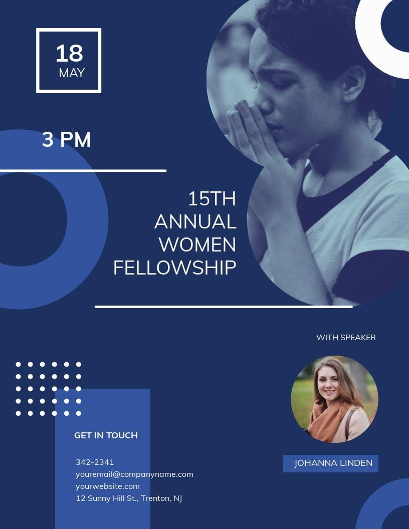 Women Fellowship Flyer Template