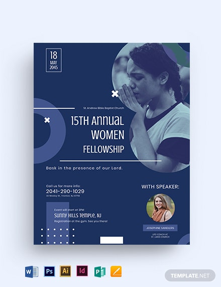 Women Fellowship Flyer Template