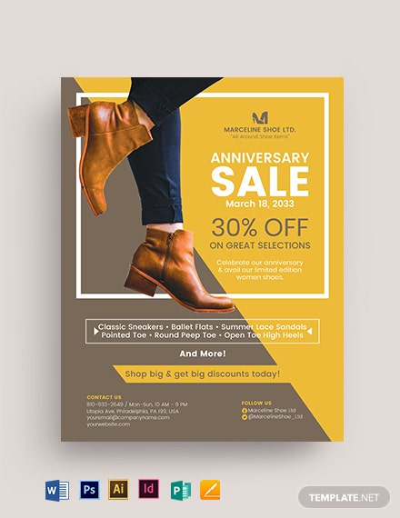 Women Shoes Flyer Template