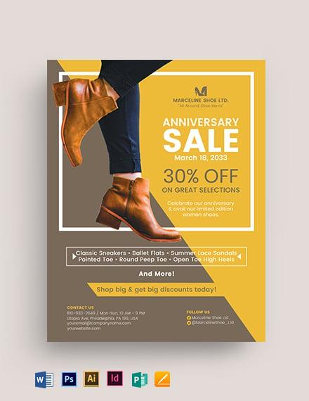 Women Shoes Flyer Template