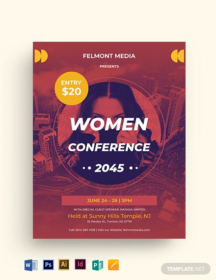 Women's Conference Program Flyer Template