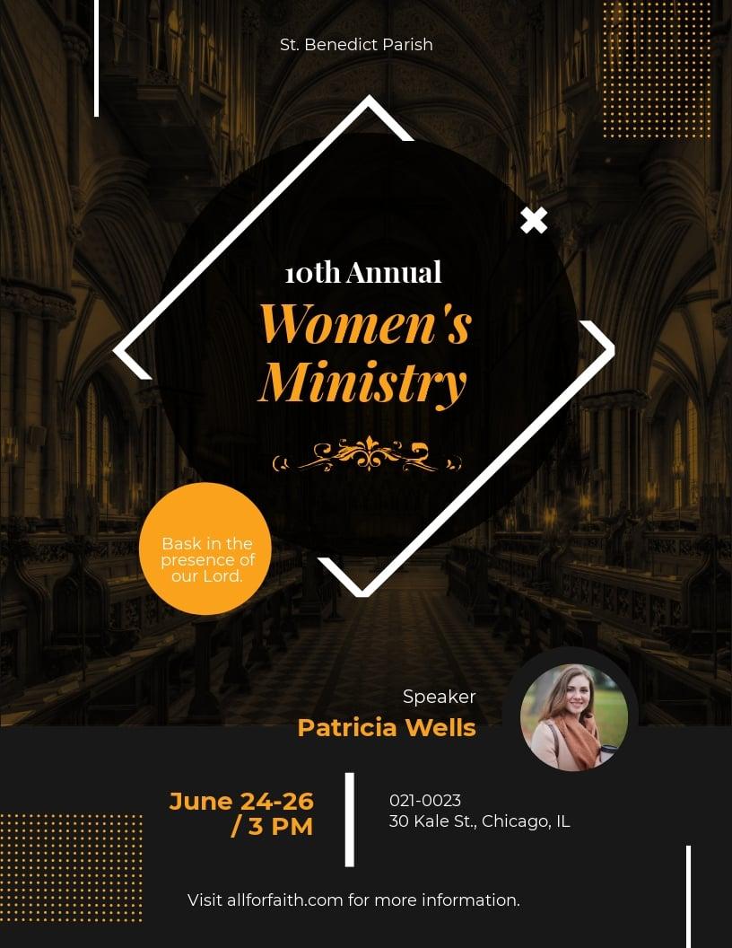 Women's Ministry Flyer Template.jpe