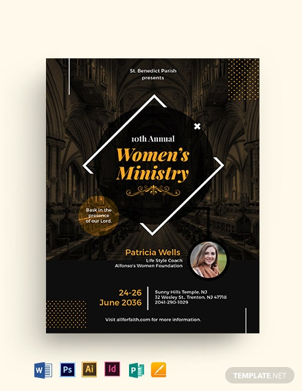 Women's Ministry Flyer Template