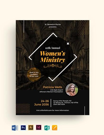 Women's Ministry Flyer Template