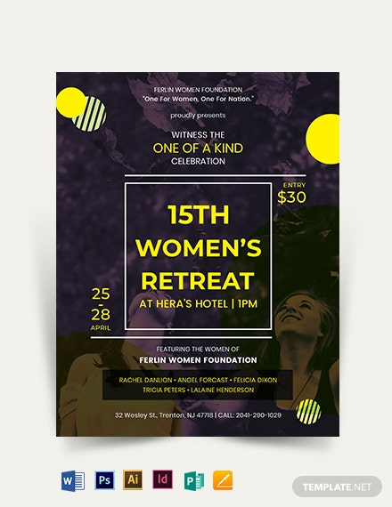 Women's Retreat Flyer Template